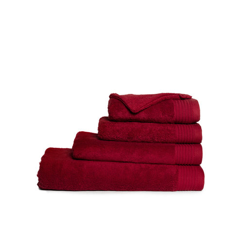 The One Towelling  Washandje - Burgundy - 16x21 cm - Set van 10