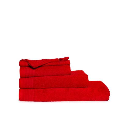 The One Towelling  Washandje - Rood - 16x21 cm - Set van 10
