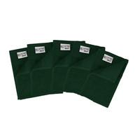 5 Gastendoekjes - Donker groen - 30x50 cm