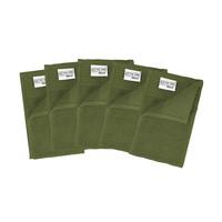 5 Gastendoekjes  - Olijf groen - 30x50 cm