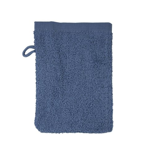 The One Towelling  Washandje - Denim - 16x21 cm - Set van 10