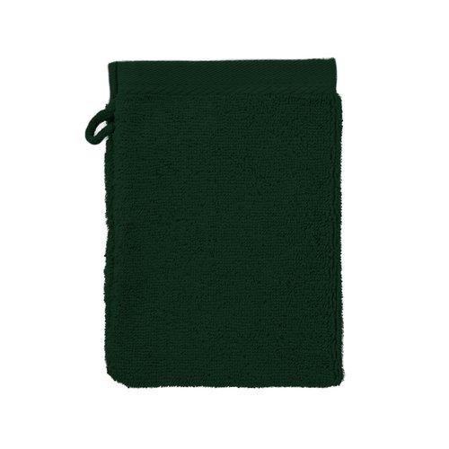 The One Towelling  Washandje - Donker groen - 16x21 cm - Set van 10