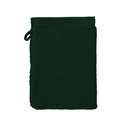 The One Towelling  Washandje - Donker groen - 16x21 cm