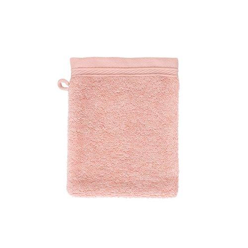The One Towelling  Washandje - Organic - Zalm roze - 16x21 cm