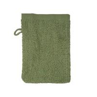 Washandje - Olijf groen - 16x21 cm