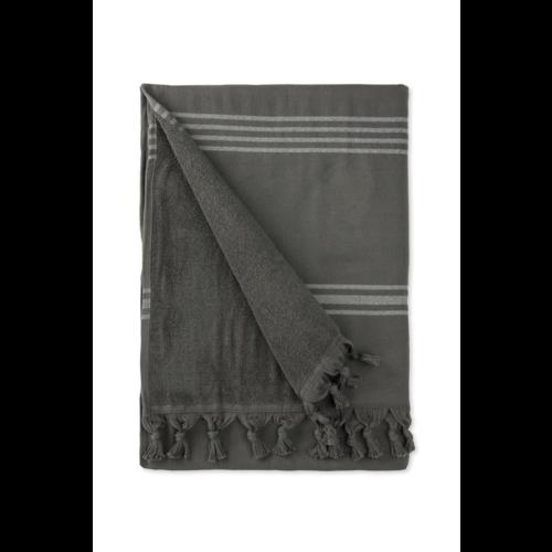 Byrklund Hamamdoek - Antraciet - 90x170 cm