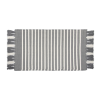Badmat - Stripes - Antraciet/Wit
