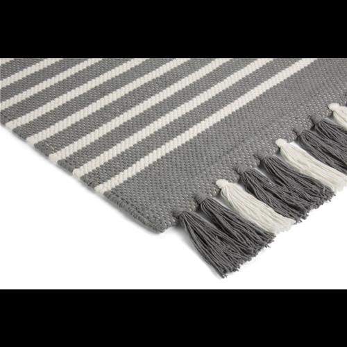 Walra Badmat - Stripes - Antraciet/Wit