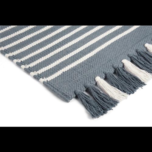 Walra Badmat - Stripes - Jeans blauw