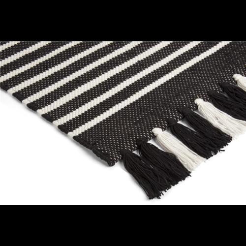 Walra Badmat - Stripes - Off Black
