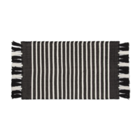 Badmat - Stripes - Off Black