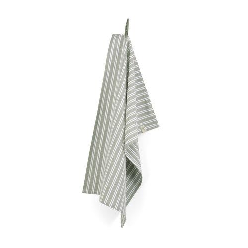 Walra Theedoek - Leger groen - Stripes
