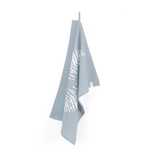 Walra Theedoek - Jeans blauw - Leaves