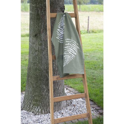 Walra Theedoek - Leger groen - Leaves