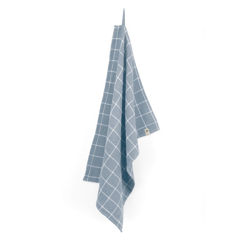 Walra Keukendoek Cubes - Jeans blauw