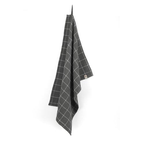 Walra Keukendoek Cubes - Off black
