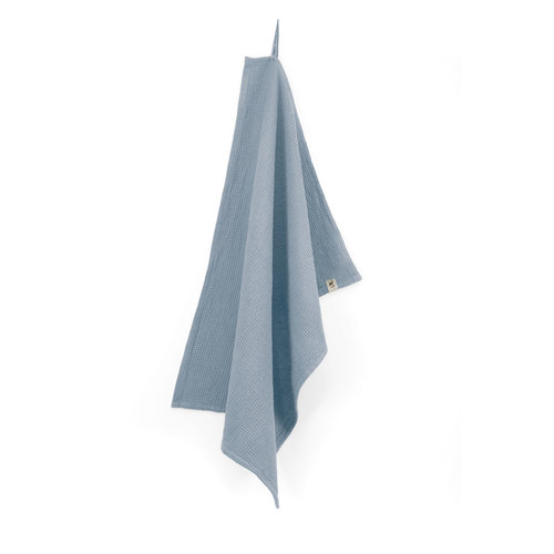 Walra Keukendoek Cubes Uni - Jeans blauw