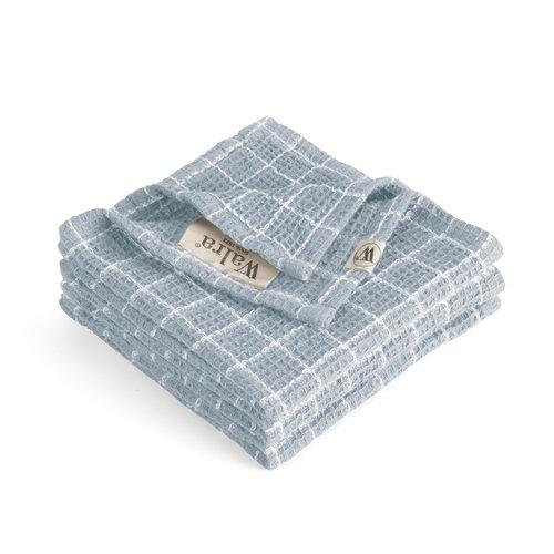 Walra Vaatdoek cubes - Jeans blauw -  Set van 3