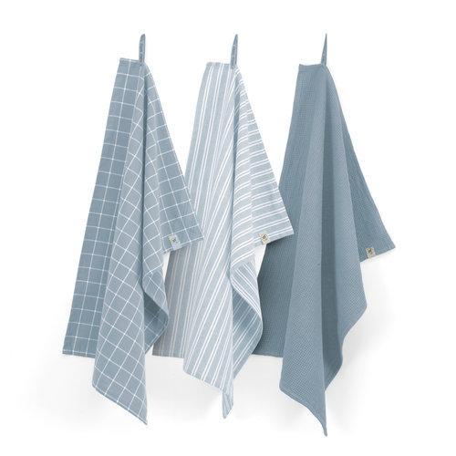 Walra Keuken & theedoeken set - Jeans blauw