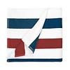 Strandlaken - Stripes - Navy blauw / Rood