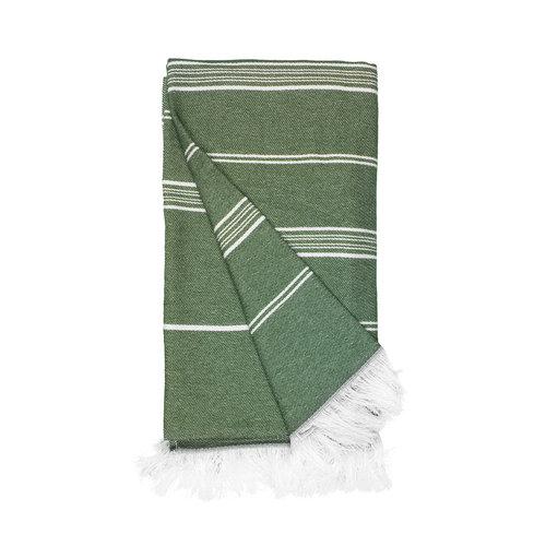 The One Towelling  Hamamdoek - Recycled - Olijf groen