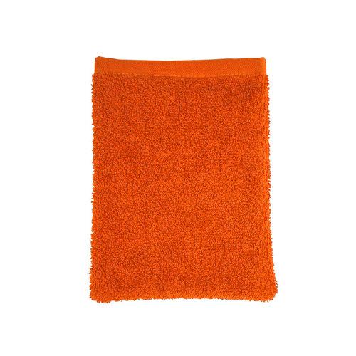 The One Towelling  Washandje - Oranje - 16x21 cm - Set van 10