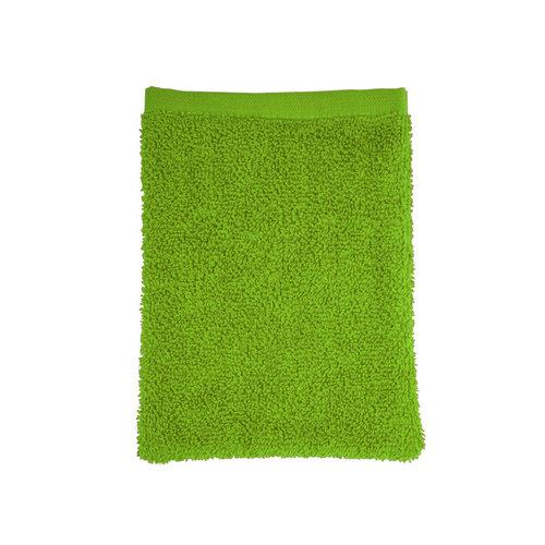The One Towelling  Washandje - Lime Groen - 16x21 cm - Set van 10