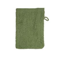 Washandje - Olijf groen - 16x21 cm - Set van 10