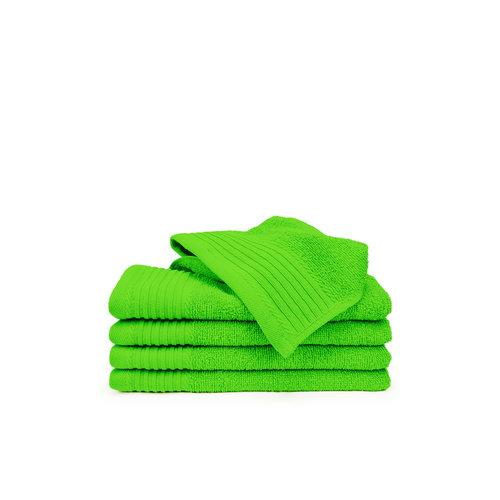 The One Towelling  Gastendoekje - Lime groen - 30x50 cm -  Set van 5