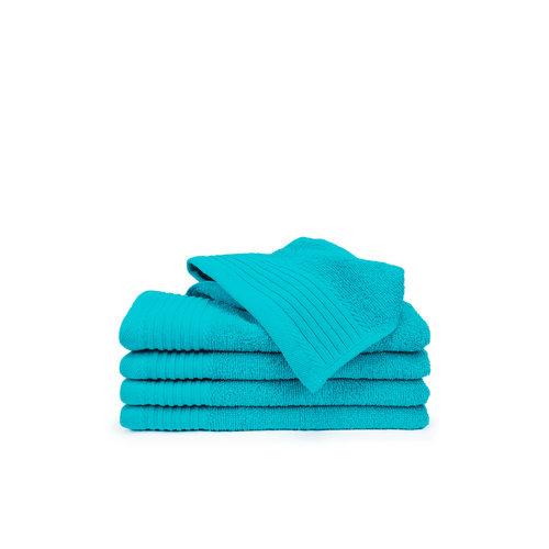 The One Towelling  Gastendoekje - Turquoise - 30x50 cm - Set van 5