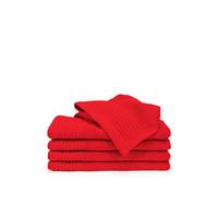 5 Gastendoekjes  - Rood - 30x50 cm