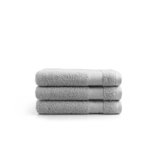 Seashell Handdoek - 50x100 cm - licht grijs - set van 3