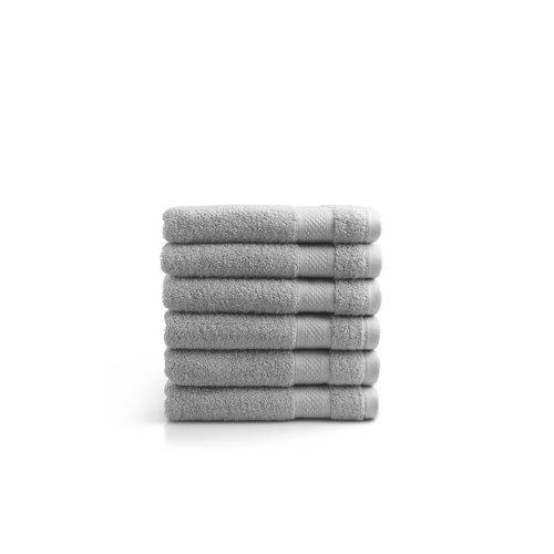 Seashell Handdoek - 50x100 cm - licht grijs - set van 6