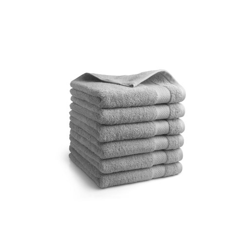 Seashell Badlaken - 70x140 cm - Licht grijs - Set van 6