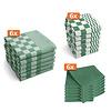 Keukentextiel set - Groen - 18 stuks - 6x Keukendoek - 6x Theedoek - 6x Vaatdoek