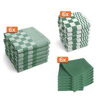 Keukentextiel set - Groen - 18 stuks