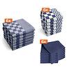 Keukentextiel set - Blauw - 18 stuks - 6x Keukendoek - 6x Theedoek - 6x Vaatdoek