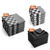 Keukentextiel set - Zwart - 18 stuks - 6x Keukendoek - 6x Theedoek - 6x Vaatdoek