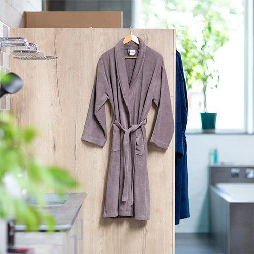 Handdoeken Discounter Badjas - Taupe - Velours
