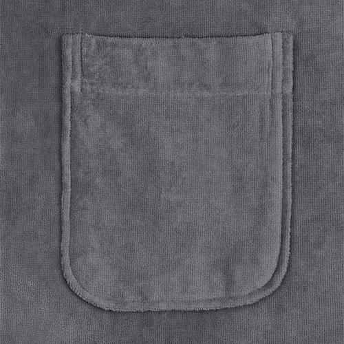 Handdoeken Discounter Badjas - Antraciet - Velours