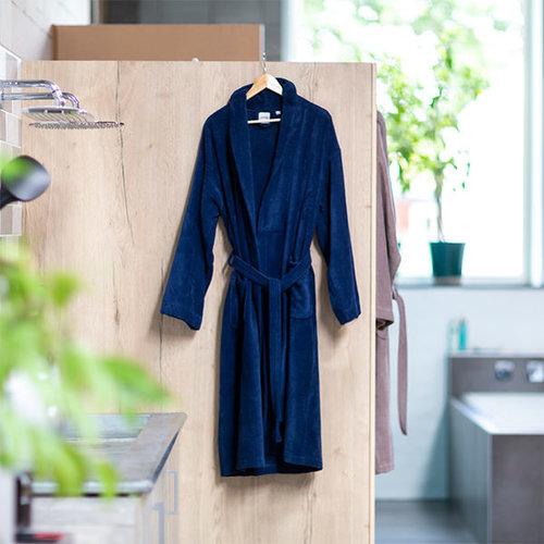 Handdoeken Discounter Badjas - Navy - Velours