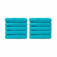 Handdoek - Turquoise - 50x100 cm - Set van 10