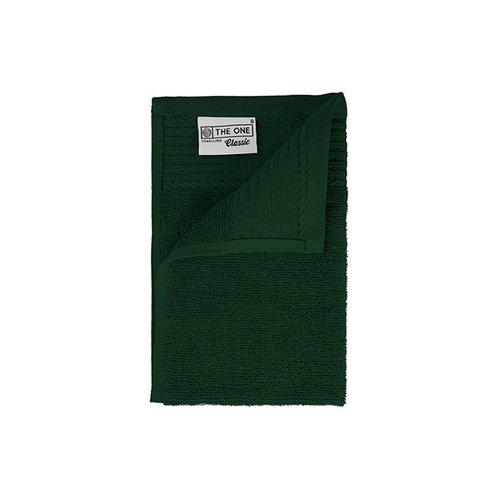 The One Towelling  Gastendoekje - Donker groen - 30x50 cm