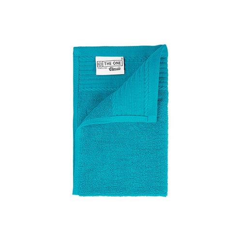 The One Towelling  Gastendoekje - Turquoise - 30x50 cm