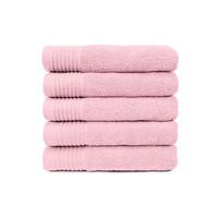 Badlaken - Licht roze - 70x140 cm - Set van 5