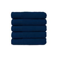 Badlaken - Navy blauw - 70x140 cm - Set van 5