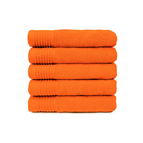 The One Towelling  Badlaken - Oranje - 70x140 cm - Set van 5