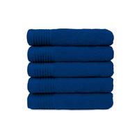 Badlaken - Kobalt blauw - 70 x140 cm - Set van 5