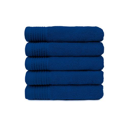 The One Towelling  Badlaken - Kobalt blauw - 70 x140 cm - Set van 5