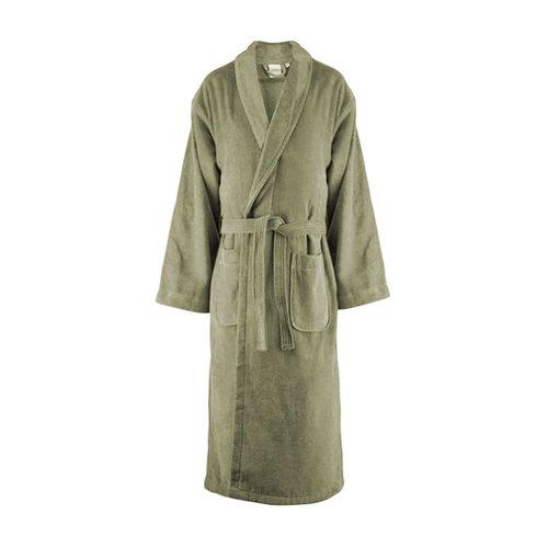 Handdoeken Discounter Badjas - Olijf Groen - Velours